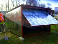garaż blaszany standardowy