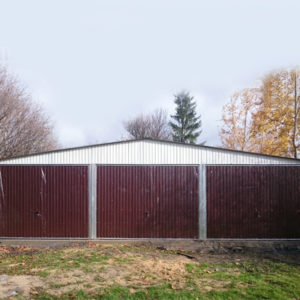 Garaże blaszane dwustanowiskowe i wielostanowiskowe