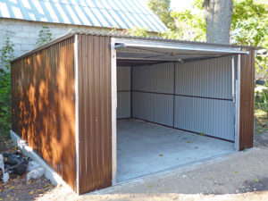Garaże blaszane jednospadowe