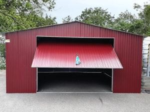 Garaże blaszane dwuspadowe
